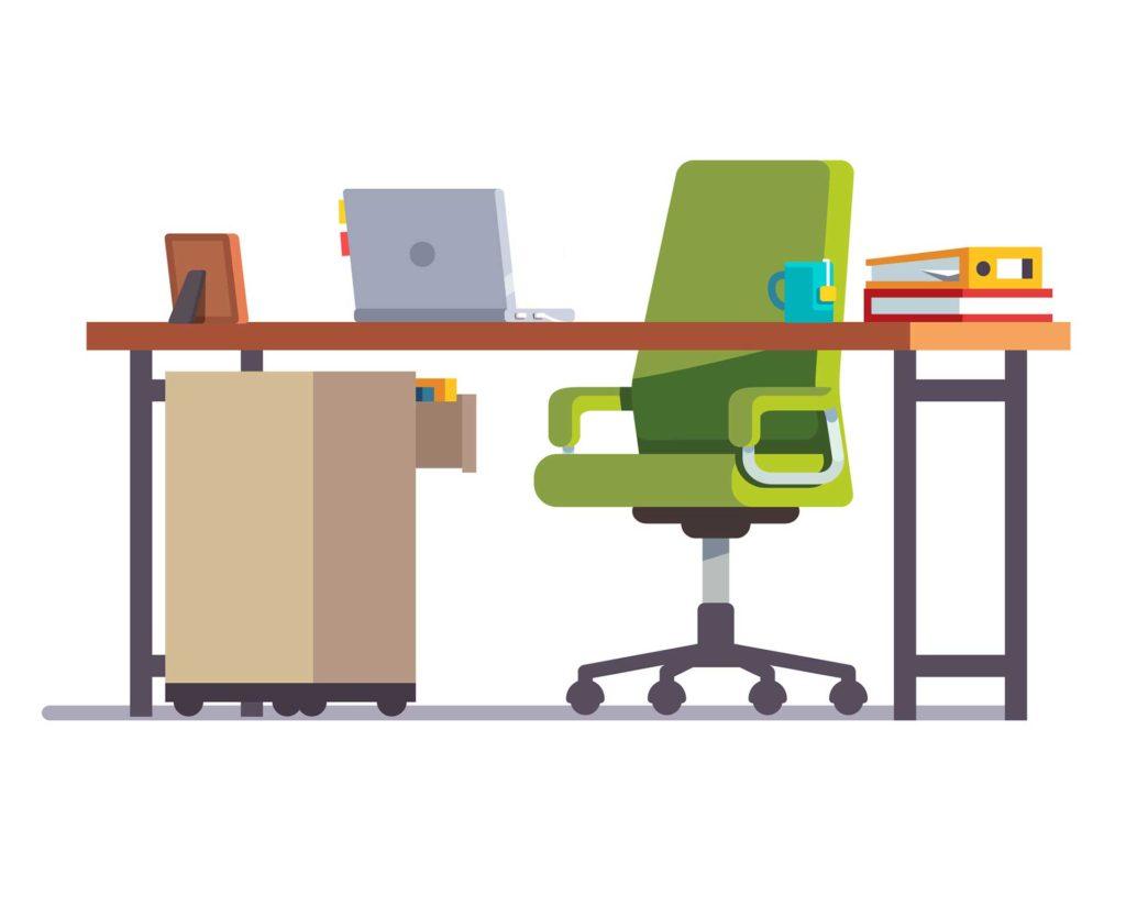 Ilustracija radnog mjesta