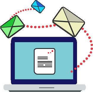 Ilustracija primanja e pošte