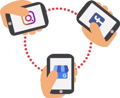 Ilustracija povezivanja putem društvenih mreža